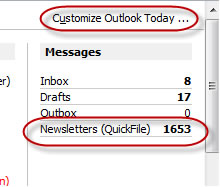 Outlook Today Page
